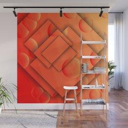 Orange Brain Wall Mural