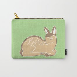 White-Tailed Deer Spring Green Carry-All Pouch