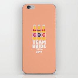 Team Bride The USA 2017 T-Shirt D3vwc iPhone Skin