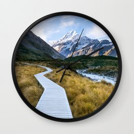 Mt.Cook New Zealand - A hikers dream Wall Clock