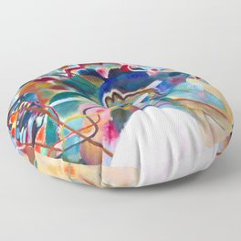 Wassily Kandinsky - Painting with White Border - Abstract Art Floor Pillow