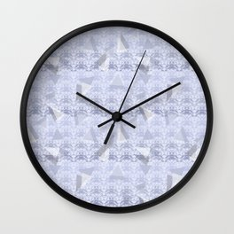 Floral Lace Collection - Blue Wall Clock
