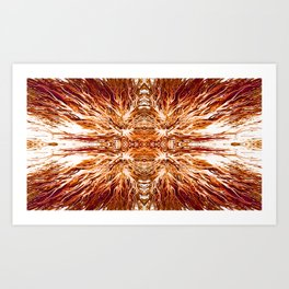 Electric Cognac Sunset by Chris Sparks Art Print