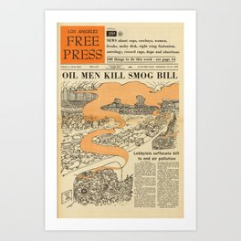Oil Men Kill Smog Bill Art Print