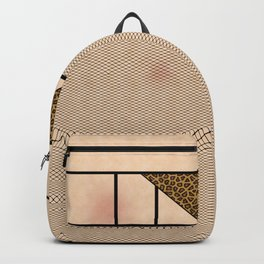 Fishnet Stockings and Leopard Skin Knickers Pale Skin Backpack