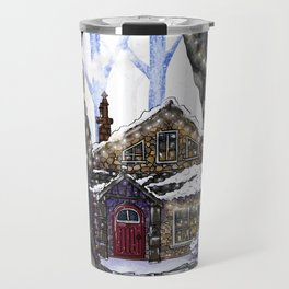 Winter Faerie House Travel Mug