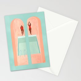 Les Nageuses Stationery Cards