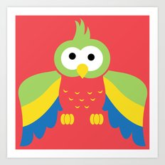 Minimal Parrot Art Print