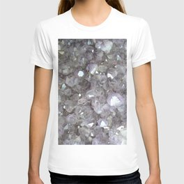 Sparkling Clear Light Purple Amethyst Crystal Stone T-shirt