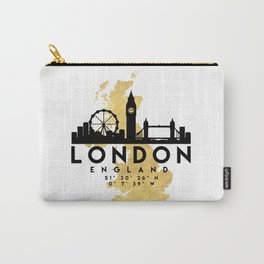 LONDON ENGLAND SILHOUETTE SKYLINE MAP ART Carry-All Pouch