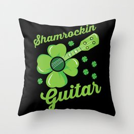 Shamrockin Guitar - Gift Throw Pillow