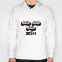 sushi Hoodies featuring Sushi by Sofia Youshi