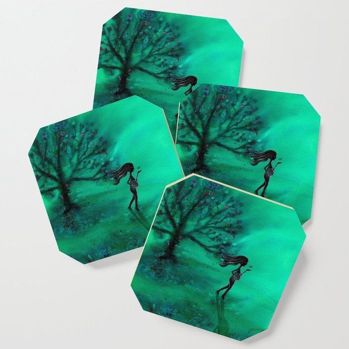 A Sacred Tree Coaster