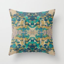 Emerald revolution geometry Throw Pillow