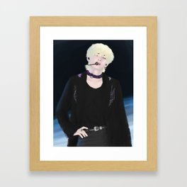 Kim Taehyung [BTS x Lotte Family Concert] Fanart Framed Art Print