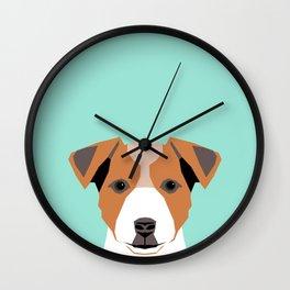 Bailey - Jack Russell Terrier phone case art print gift for dog people Jack Russell Terrier owners Wall Clock