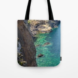 The bay from above Tote Bag