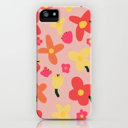 Pink Flowergram iPhone Case