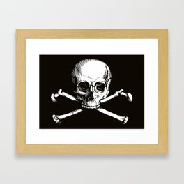 Skull and Crossbones | Jolly Roger Framed Art Print