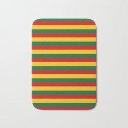 lithuania benin burkina faso flag stripes Bath Mat