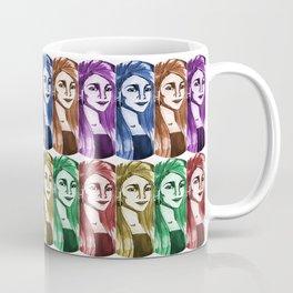 Une femme - plusieurs couleurs Coffee Mug