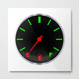Empty Fuel Gauge Metal Print