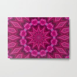 Hot Pink and Thorny Metal Print