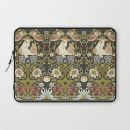 Whippets and Strawberry Thieves Laptop Sleeve