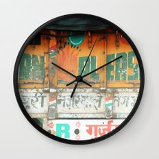 horn please! india truck sign Wall Clock