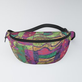 Wine Glass Abstract Art Decor Fanny Pack