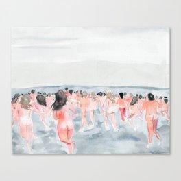 Skinny Dip Run Canvas Print