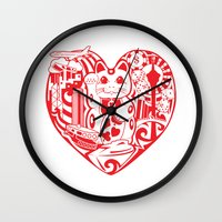 onesie Wall Clocks featuring isabelle by Gray