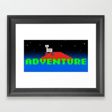 8-Bit Adventure On Mars Framed Art Print
