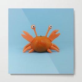 Crab tangerine Metal Print