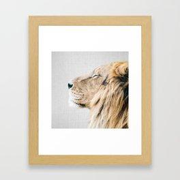 Lion Portrait - Colorful Framed Art Print