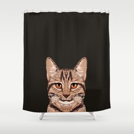 Ripley - Tabby Cat cute cat gifts for cat people and cat lady gift ideas for the cat lover  Shower Curtain