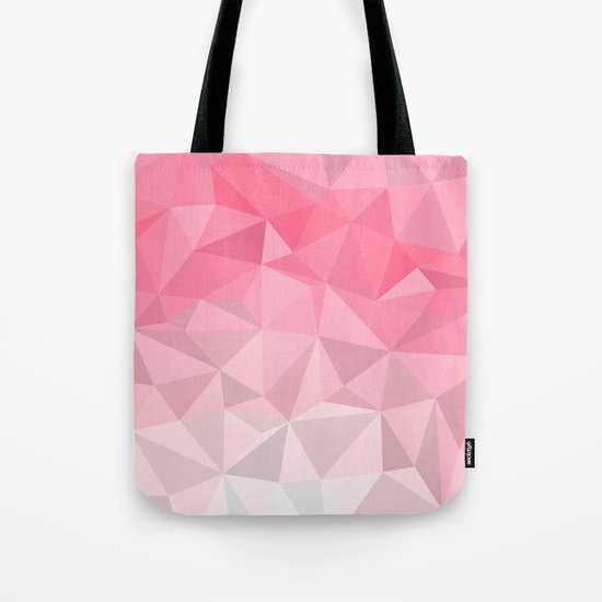 Pink Polygon Tote Bag