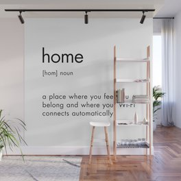 Home Definition Text Sign Wall Mural