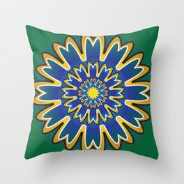 Development Mandala - מנדלה התפתחות Throw Pillow
