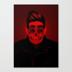 the 4i Red Skull Punk Canvas Print