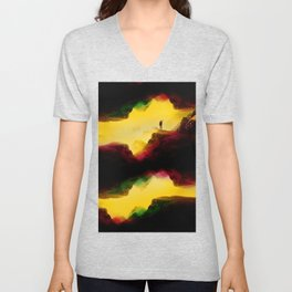 Hi from the The Upside Down Unisex V-Neck