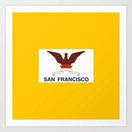 Flag of San Francisco Art Print