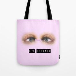 Pink Eye Contact Tote Bag