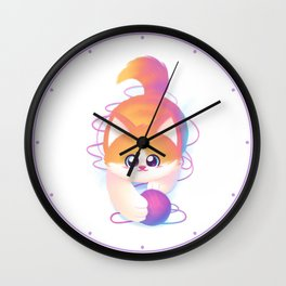 Kitten Curiosity Wall Clock