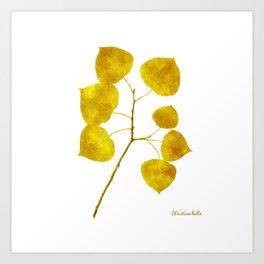 Gold Leaf Art Art Print