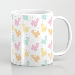 Pastel Kawaii Llamas Coffee Mug