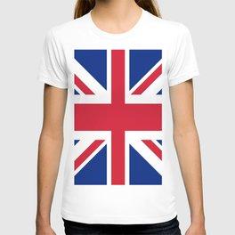 red white and blue trendy london fashion UK flag union jack T-shirt