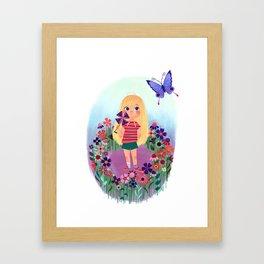 Uni the Unicorn: The Little Girl Framed Art Print