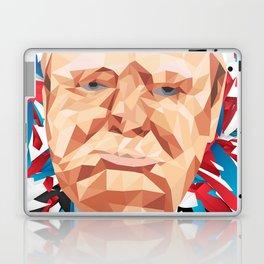 Portrait of Sir Winston Churchill Laptop & iPad Skin