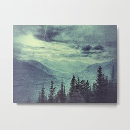 Mountain Highs and Valley Lows Metal Print